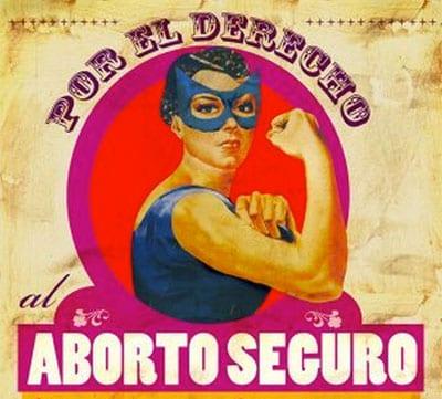 cartel activismo por el acceso al aborto seguro