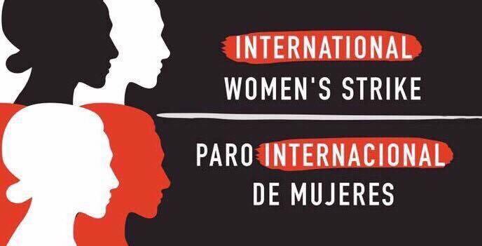 Cartel para día de la mujer paro internacional de mujeres