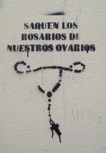 Saquen los rosarios de nuestros ovarios. Contra las cargas morales en las penas por abortar