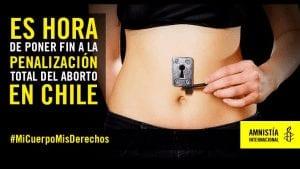 Campaña de Amnistía Internacional a favor de la despenalización del aborto en Chile