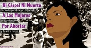 Cartel de campaña para despenalizar el aborto en todo el país y en Latinoamérica
