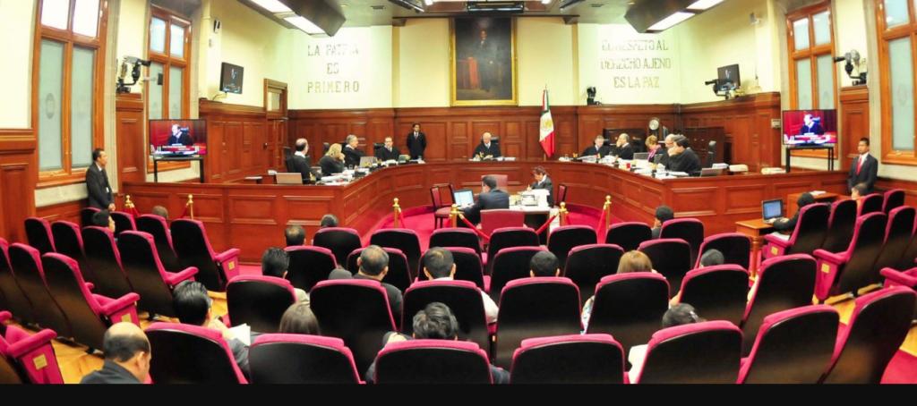 Sala de la Suprema Corte de Justicia de la Nación en donde se observan los magistrados y el público.