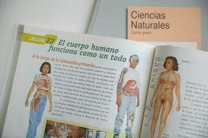 Libro de ciencias naturales que aborda el tema del cuerpo humano