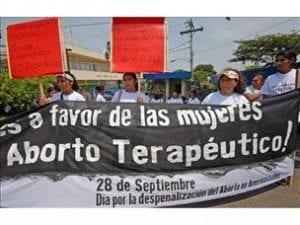 Mujeres en manifestación a favor del aborto terapéutico en Costa Rica