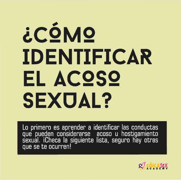 cómo identificar el acoso sexual