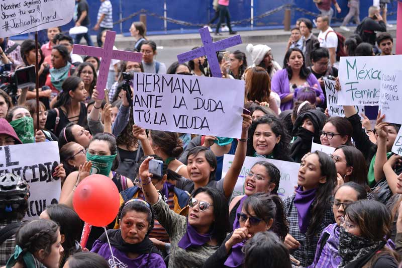 Protestas del dia de la Mujer en Mexico